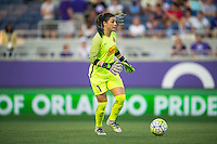 Orlando, Florida - Sunday, May 14, 2016: Western New York Flash goalkeeper Sabrina D'Angelo (1) during a National Women's Soccer League match between Orlando Pride and New York Flash at Camping World Stadium.