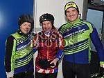 Drogheda Triathlon club members Susan Duffy, Tara McCullough and John Sherry who took part in the Duleek Parish School cycle. Photo:Colin Bell/pressphotos.ie