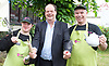Stephen Hammond, Conservative candidate for Wimbledon and the former parliamentary under-secretary of State for Transport is on the general election campaign trail in Wimbledon today (Monday 15th May 2017). <br /> <br /> Visiting the Merton Mencap Caf&eacute;, open every Monday at Holy Trinity Church in The Broadway it offers a range of healthy home-made dishes &amp; is run by adults with a learning disability, supported by Merton Mencap staff and volunteers. <br /> <br /> Hammond who has an 11,408 majority (24.1%) met some of the workers who have learning disabilities including <br /> <br /> L to R: <br /> <br /> <br /> George Cary ; Stephen Hammond ; Richard Dorris <br /> <br /> <br /> <br /> <br /> Photograph by Elliott Franks <br /> Image licensed to Elliott Franks Photography Services