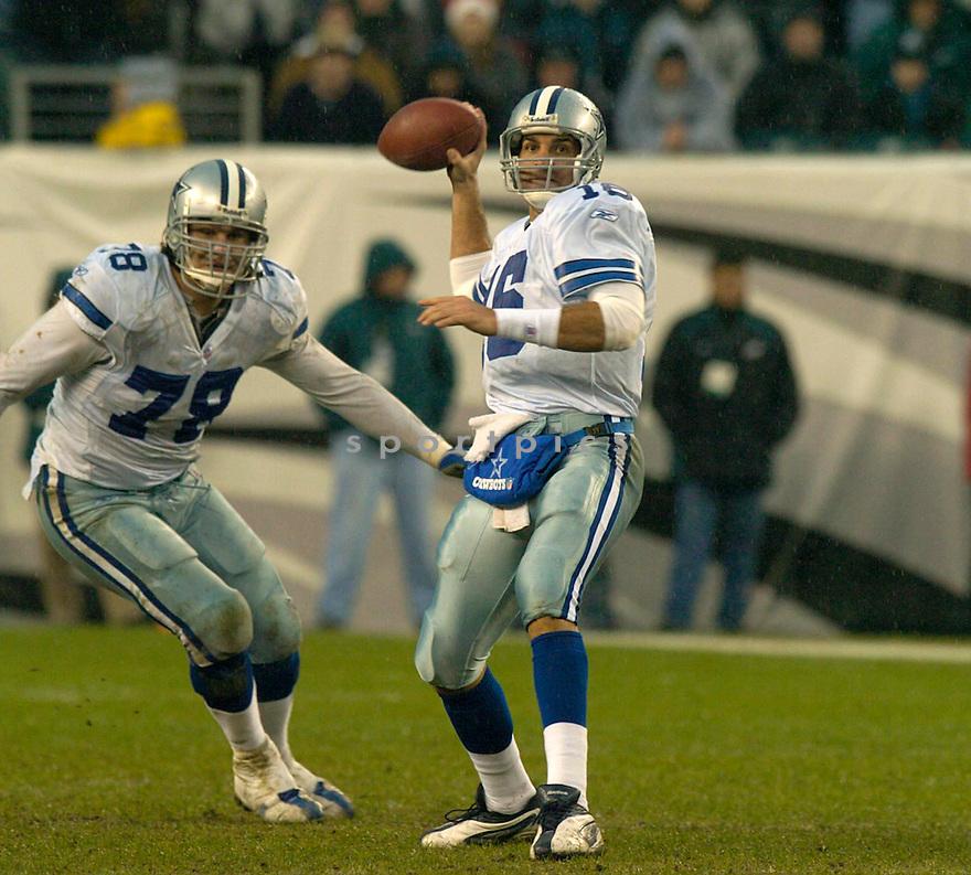 Vinny Testaverde during the Dallas Cowboys v. Philadelpia Eagles game on December 18, 2004...Eagles win 12-7..David Durochik / SportPics