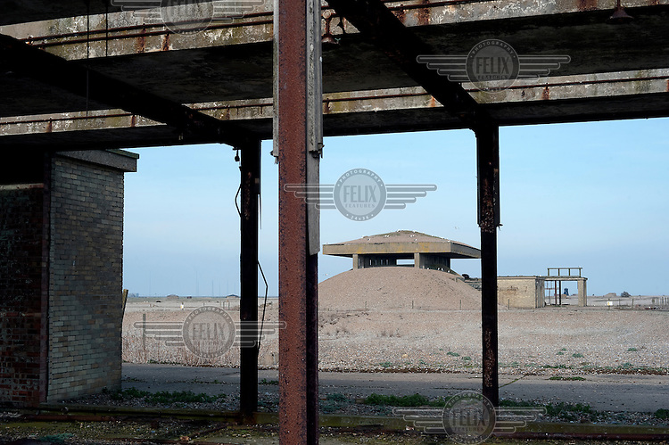 A view of one of the abandoned secret Atomic Weapons Research Establishment laboratories at Orfordness, Suffolk....