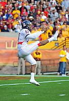 Nov. 28, 2009; Tempe, AZ, USA; Arizona Wildcats punter (47) Keenyn Crier against the Arizona State Sun Devils at Sun Devil Stadium. Arizona defeated Arizona State 20-17. Mandatory Credit: Mark J. Rebilas-