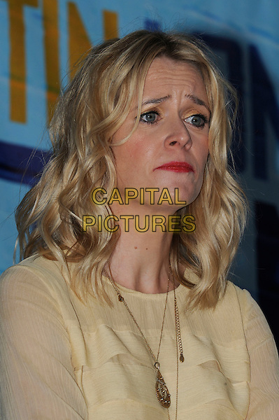 EDITH BOWMAN.At the 'Going the Distance' world premiere at the Vue cinema, Leicester Square, London, England, UK, .19th August 2010..portrait headshot red lipstick funny sad face frown frowning expression yellow ruffle gold necklace.CAP/IA.©Ian Allis/Capital Pictures.