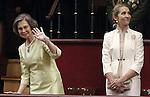 Coronation ceremony in Madrid. Queen Sofía of Spain and enfant Elena of Spain at Congreso de los Diputados. June 19 ,2014. (ALTERPHOTOS/EFE/Pool)