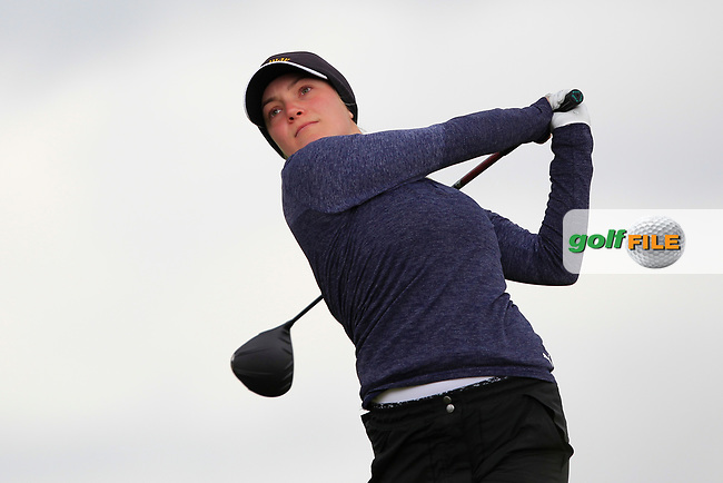 Beatrice Wallin (SWE) on the 8th tee during Round 3 Matchplay of the Women's Amateur Championship at Royal County Down Golf Club in Newcastle Co. Down on Friday 14th June 2019.<br /> Picture:  Thos Caffrey / www.golffile.ie