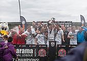 29/04/2017 National League North AFC Fylde v Worcester City<br /> <br /> AFC Fylde captain Josh Langley lifts the Vanarama Nation League North trophy