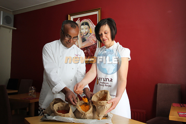 Sarah Nic Lochlainn and Sarajit Chanda of Fuchsia House Restaurant, Dundalk Road, Ardee, Co.Louth...(Photo credit should read Jenny Matthews www.newsfile.ie)....This Picture has been sent you under the conditions enclosed by:.Newsfile Ltd..The Studio,.Millmount Abbey,.Drogheda,.Co Meath..Ireland..Tel: +353(0)41-9871240.Fax: +353(0)41-9871260.GSM: +353(0)86-2500958.email: pictures@newsfile.ie.www.newsfile.ie.