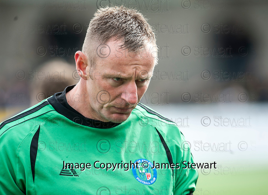 Forfar keeper Rab Douglas at the end of the game.