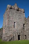 Skipness Castle in Kintyre in Scotland