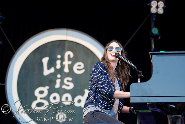 Canton, MA - September 22: Sara Bareilles performs at the Life is Good Festival on September 22, 2012 in Canton, Massachusetts © Kristen Pierson / Retna Ltd.