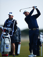 Graeme McDowell of Northern Ireland tees off during Round 3 of the 2015 Alfred Dunhill Links Championship at the Old Course, St Andrews, in Fife, Scotland on 3/10/15.<br /> Picture: Richard Martin-Roberts | Golffile