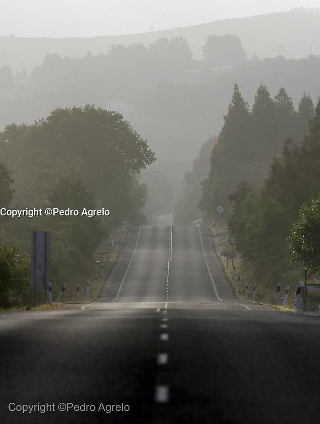 Carretera LU-540 dirección Lugo