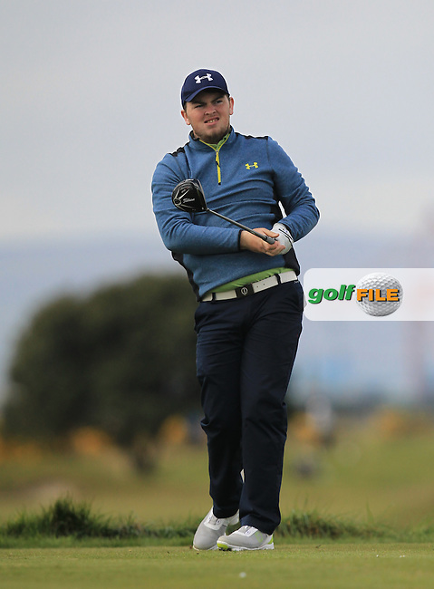 Caolan Rafferty (Dundalk) on the 3rd tee during Round 1 of the Flogas Irish Amateur Open Championship at Royal Dublin on Thursday 5th May 2016.<br /> Picture:  Thos Caffrey / www.golffile.ie