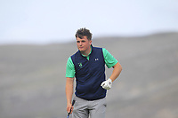 James Sugrue from Ireland on the 4th tee during Round 2 Singles of the Men's Home Internationals 2018 at Conwy Golf Club, Conwy, Wales on Thursday 13th September 2018.<br /> Picture: Thos Caffrey / Golffile<br /> <br /> All photo usage must carry mandatory copyright credit (&copy; Golffile | Thos Caffrey)