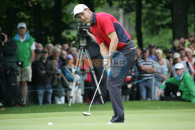 Padraig Harrington putts for birdie on the 15th green during Day 2 of the 3 Irish Open at the Killarney Golf & Fishing Club, 30th July 2010..(Picture Eoin Clarke/www.golffile.ie)