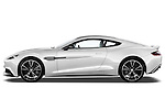 Driver side profile view of a 2012 - 2014 Aston Martin Vanquish 2+2 Coupe.