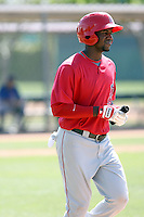 Jeremy Moore, Los Angeles Angels 2010 minor league spring training..Photo by:  Bill Mitchell/Four Seam Images.