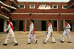 Students at the Lucie Harrison Girls High School in Lahore, run by the Church of Pakistan.