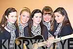 Aisling Moriarty, Leanne Cronin, Kayleigh Sheerin, Siobhain Fenton and Lorrainne Cremins Spa ballad group who competed at the East Kerry Scor finals in the Aras Padraig Killarney on Saturday night         Copyright Kerry's Eye 2008