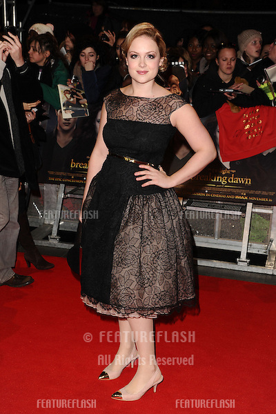 "Kimberley Nixon arriving for the ""The Twilight Saga: Breaking Dawn Part 2"" premiere at the Odeon Leicester Square, London. 14/11/2012 Picture by: Steve Vas / Featureflash"