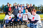 Maria O'Sullivan launching the Brendan O'Leary Memorial fun walk which will be held in Kilcummin in aid of the Pallitive Care in UHK on Sunday 17th February front row l-r: Jaden Tynan, David Sheehan, Padraig O'Sullivan. Middle row: Kathleen O'Leary Theresa Bruston John Shehan, Eve O'Leary, Noreen Nagle, John O'Leary, Back row: Jim McCarthy, Juliet Culloty, Katie O'Leary, Louise O'Leary, Niamh O'Leary,