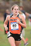 November 1, 2014; Sunnyvale, CA, USA; Pacific Tigers runner Megan Hall (40) competes during the WCC Cross Country Championships at Baylands Park.