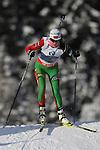 E.On IBU Biathlon World Cup 2013 - Antholz /  Anterselva - Italy.. Natalya Burdyga on 17/01/2013 in Anterselva, Italy. ..© Pierre Teyssot