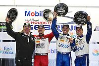 Chip Ganassi, Marino Franchitti, Memo Rojas and Scott Pruett celebrate after winning the 12 Hours of Sebring, Sebring International Raceway, Sebring, FL, March 2014.  (Photo by Brian Cleary/www.bcpix.com)