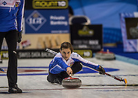 Glasgow. SCOTLAND. CZE'S, Alzbete BAUDYSOVA, &quot;Round Robin&quot; Games. Le Gruy&egrave;re European Curling Championships. 2016 Venue, Braehead  Scotland<br /> Monday  21/11/2016<br /> <br /> [Mandatory Credit; Peter Spurrier/Intersport-images]