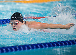 Wales Harriet West competes in the Womans 50m Butterfly semi-final<br /> <br /> *This image must be credited to Ian Cook Sportingwales and can only be used in conjunction with this event only*<br /> <br /> 21st Commonwealth Games - Swimming - Day 3 - 07\04\2018 - Gold Coast Optus Aquatic centre - Gold Coast City - Australia
