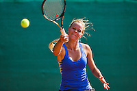 August 13, 2014, Netherlands, Raalte, TV Ramele, Tennis, National Championships, NRTK,  Dominique Karregat (NED)<br /> Photo: Tennisimages/Henk Koster
