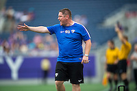Orlando, FL - Sunday July 10, 2016: Matt Beard during a regular season National Women's Soccer League (NWSL) match between the Orlando Pride and the Boston Breakers at Camping World Stadium.