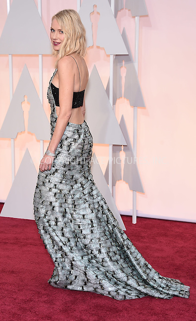 WWW.ACEPIXS.COM<br /> <br /> February 22 2015, LA<br /> <br /> Naomi Watts arriving at the 87th Annual Academy Awards at the Hollywood &amp; Highland Center on February 22, 2015 in Hollywood, California.<br /> <br /> By Line: Z15/ACE Pictures<br /> <br /> <br /> ACE Pictures, Inc.<br /> tel: 646 769 0430<br /> Email: info@acepixs.com<br /> www.acepixs.com