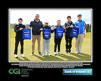 Faithlegg GC team with Bank of Ireland Official Morgan Whelan and CGI Participation Officer Jennifer Hickey with Junior golfers across Munster practicing their skills at the regional finals of the Dubai Duty Free Irish Open Skills Challenge at the Ballykisteen Golf Club, Limerick Junction, Co. Tipperary. 16/04/2016.<br /> Picture: Golffile | Thos Caffrey<br /> <br /> <br /> <br /> <br /> <br /> All photo usage must carry mandatory copyright credit (© Golffile | Thos Caffrey)
