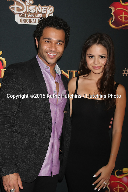 "LOS ANGELES - JUL 24:  Corbin Bleu, Sasha Clements at the ""Descendants"" Premiere Screening at the Walt Disney Studios on July 24, 2015 in Burbank, CA"