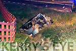 The scene at the crash at Ballyhar cross on the Killarney/Farranfore road on Monday evening