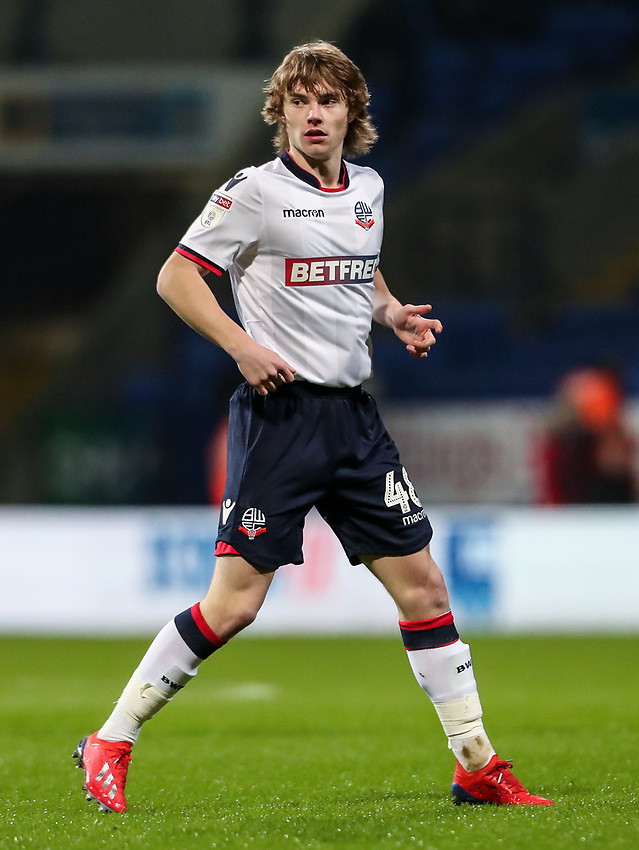 Bolton Wanderers' Luca Connell <br /> <br /> Photographer Andrew Kearns/CameraSport<br /> <br /> The EFL Sky Bet Championship - Bolton Wanderers v Reading - Tuesday 29th January 2019 - University of Bolton Stadium - Bolton<br /> <br /> World Copyright © 2019 CameraSport. All rights reserved. 43 Linden Ave. Countesthorpe. Leicester. England. LE8 5PG - Tel: +44 (0) 116 277 4147 - admin@camerasport.com - www.camerasport.com