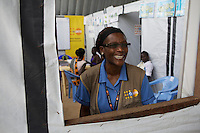 UNV (midwife tutor) at the reproductive health clinic at POC1 in Juba where currently 15.000 IDPs live.