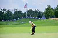 Brooke M. Henderson (CAN) barely misses her birdie putt on 1 during Saturday's third round of the 72nd U.S. Women's Open Championship, at Trump National Golf Club, Bedminster, New Jersey. 7/15/2017.<br /> Picture: Golffile | Ken Murray<br /> <br /> <br /> All photo usage must carry mandatory copyright credit (&copy; Golffile | Ken Murray)