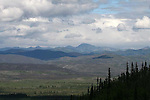 IMAGES OF THE YUKON,CANADA , VIEW FROM THE TOP OF THE WORLD HIGHWAY
