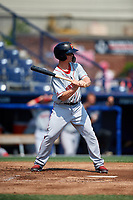 Portland Sea Dogs left fielder Tony Renda (11) at bat during the first game of a doubleheader against the Reading Fightin Phils on May 15, 2018 at FirstEnergy Stadium in Reading, Pennsylvania.  Portland defeated Reading 8-4.  (Mike Janes/Four Seam Images)
