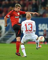 FUSSBALL   1. BUNDESLIGA  SAISON 2012/2013   5. Spieltag FC Augsburg - Bayer 04 Leverkusen           26.09.2012 Lars Bender (li, Bayer 04 Leverkusen) gegen Tobias Werner (FC Augsburg)
