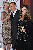 "BURBANK, CA - DECEMBER 09: Emma Thompson, Tom Hanks, Rita Wilson arriving at the U.S. Premiere Of Disney's ""Saving Mr. Banks"" held at Walt Disney Studios on December 9, 2013 in Burbank, California. (Photo by Xavier Collin/Celebrity Monitor)"
