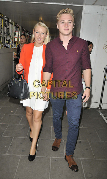 LONDON, ENGLAND - JULY 16: Katriona Perrett &amp; Ben Hardy attend the Attitude Magazine's World Sexiest Men 2014 summer party, The Paramount Club, 31st floor, Centre Point, New Oxford St., on Wednesday July 16, 2014 in London, England, UK.<br /> CAP/CAN<br /> &copy;Can Nguyen/Capital Pictures