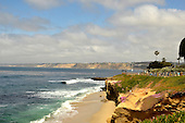 Stock photo of the Pacific Ocean at La Jolla California