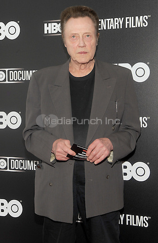 "New York, NY-June 5: Christopher Walken attends ""Remembering The Artist: Robert DeNero Sr."" New York Premiere ar the Museum Of Modern Art on June 5, 2014 in New york City. (C) Credit: John Palmer/MediaPunch"