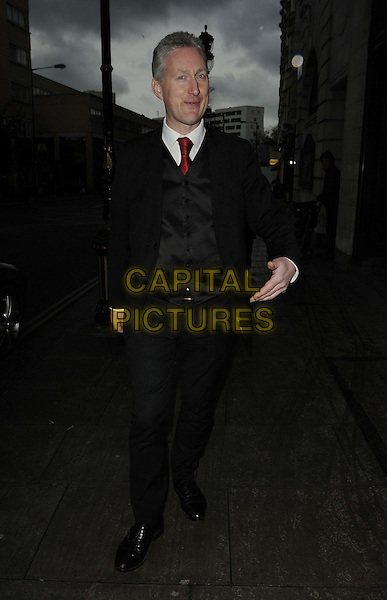 Lembit Opik.attended the National Luxury & Lifestyle Awards, Porchester Hall, Porchester Rd., London, England, UK, 17h March 2012..full length black suit waistcoat red tie .CAP/CAN.©Can Nguyen/Capital Pictures.
