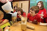 Welsh Water.Matthew Seamons charity bike ride & Jazz Carlin visit to Cog Moors..22.03.13.©Steve Pope