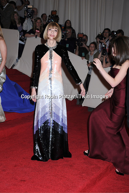 "Anna Wintour and daughter Bee Shaffer arriving at The Costume Institute Gala Benefit celebriting ""Alexander McQueen: Savage Beauty"" at The Metropolitan Museum of Art in New York City on May 2, 2011."