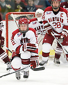 Colin Moore (Harvard - 12) - The Harvard University Crimson defeated the visiting Colgate University Raiders 6-2 (2 EN) on Friday, January 28, 2011, at Bright Hockey Center in Cambridge, Massachusetts.